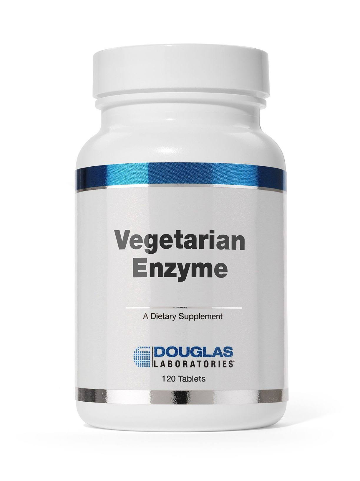 Douglas Laboratories Vegetarian Enzyme Supplement - 120 Tablets