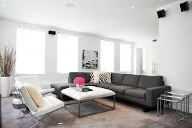 Brown Carpet Living Room Ideas by Glamorous Grey Sectional Couch Vogue New York Contemporary Living
