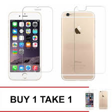 Tempered Glass For iPhone 6 Front and Back Clear BUY 1 TAKE 1