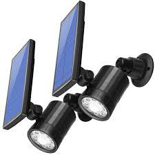 2 pack amir le solaire detecteur de mouvement exterieur