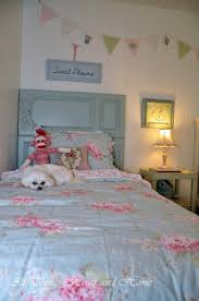 Simply Shabby Chic Bedding by Headboard From Tv Cabinet Doors All Things Heart And Home