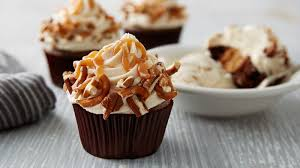 Sky High Salted Caramel Chocolate Cupcakes
