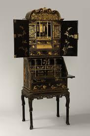 export bureau antique export lacquer bureau cabinet in three sections c