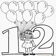 Download The Number 12 Coloring Pages