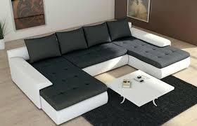 canape convertible noir et blanc canap design noir et blanc canape cuir blanc angle