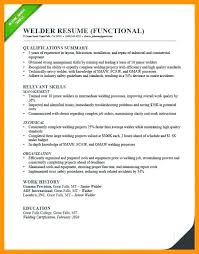 Resume Summary Examples Welder Combined With Best Of Samples