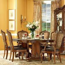Old World Dining Table Furniture 7 Piece Double Pedestal Set