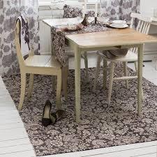 teppich 160x230 cm dunkelbraun beige baumwolle