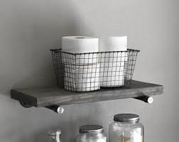 925 Deep Farmhouse Gray Wash Floating Shelf Industrial Rustic Shelves Wood And Pipe