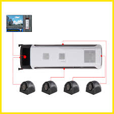 100 Truck Camera System BusTrailer 360 Car Monitor Quad Around View