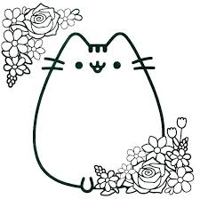 Kitty Coloring Pages Hello Sheets To Print Charming Cats Printable Christmas Kitten Colouring