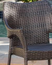 Tahitian Patio Furniture ~ 3 Piece Outdoor Wicker Stacking Chair  Conversation (Chat) Set (Brown) Gdf Studio Dorside Outdoor Wicker Armless Stack Chairs With Alinum Frame Dover Armed Stacking With Set Of 4 Palm Harbor Stackable White All Weather Patio Chair Bay Island Noble House Multibrown Ding 2pack Plowhearth Bistro Two 30 Arm Brown 51 Bfm Seating Ms11cbbbl Gray Rattan Inoutdoor Restaurant Of Red By Crosley Fniture