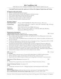 Cool Sample Resume Computer Programmer No Experience With Additional For Senior Analyst