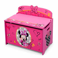 Minnie Mouse Room Decorations Walmart by Disney Minnie Mouse Deluxe Toy Box Walmart Com