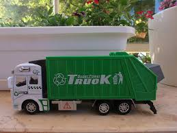 Metal Garbage Truck Toy With Pullback Friction Powered Action And ...