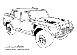 Awesome Cars Coloring Page Lamborghini LM002 Special Picture