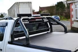 To Fit 2016+ Volkswagen Amarok Roll Bar + Light Bars + Tonneau Cover ...