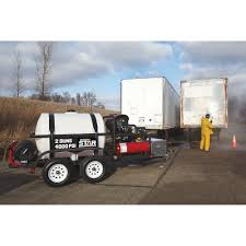 100 North Star Trucking Hot Water Commercial Pressure Washer Trailer With 2 Wands