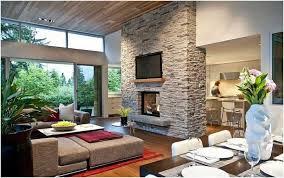 parement cuisine salon design ouvert salle manger cuisine mur parement