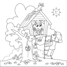 Berenstain Bears Christmas Tree Coloring Page by Nice Arbor Day Treehouse Coloring Page And Tree Song Kiboomu