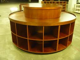New Massive Round Wooden Retail Display Table Fixture 90x90x36 36 Holes