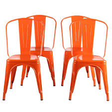 Set Of 4 Metal Industrial Cafe Dining Chair In Orange By Joseph ... Saddle Leather Ding Chair Garza Marfa Jupiter White And Orange Plastic Modern Chairs Set Of 2 By Black Metal Cafe Fniture Buy Eiffel Inspired White Orange With Legs Grand Tuscany Total Sizes Wd325xh36 Patio Urban Kitchen Shop Asbury With Chromed Velvet Vivian Of World Market Industrial Design Slat Back Products Flash Indoor Outdoor Table 4 Stack