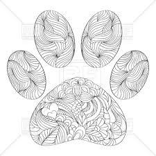Abstract Animal Paw Print