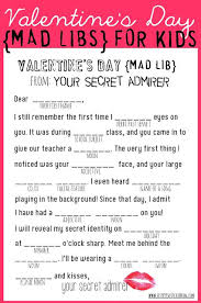 Halloween Mad Libs Free by Free Valentine U0027s Mad Libs For Kids Printables