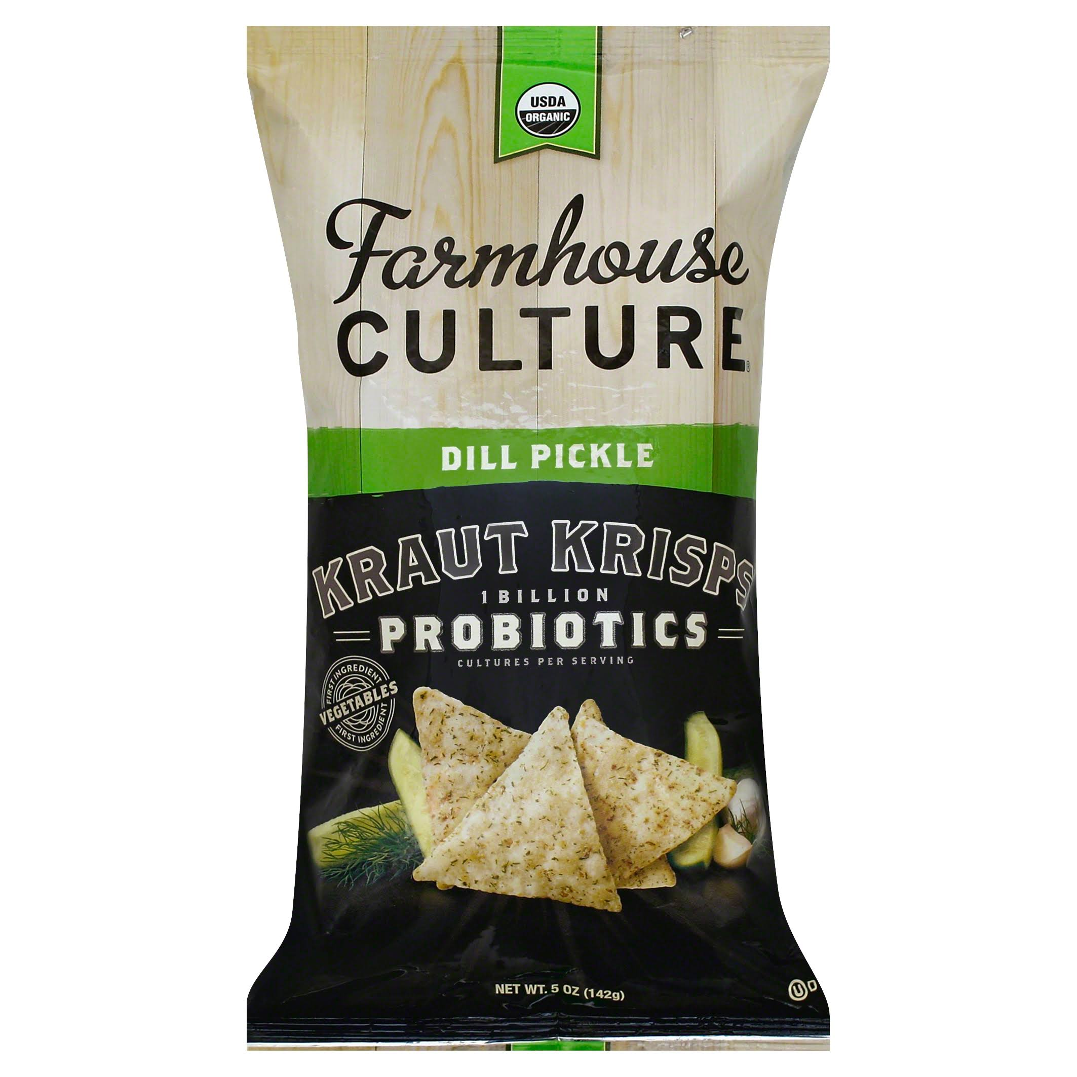 Farmhouse Culture Kraut Krisps, Dill Pickle - 5 oz