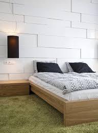 wohnungseinrichtung ideen schlafzimmer wandpaneele weiss 3d