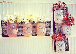 Recycled Pallet Mason Jar Decorations