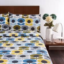 Orla Kiely 3 Piece Cotton Duvet Cover & Pillowcase Set QVC UK