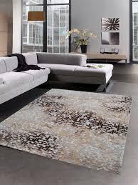 teppich modern wohnzimmer teppich mosaik grau braun beige
