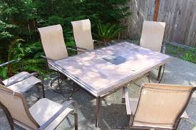 creative of tile patio table set tile top patio dining table