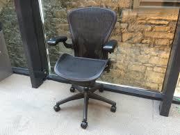 Aeron Chair Used Nyc by Used Herman Miller Aeron Ergonomic Office Chair Used Ergonomic