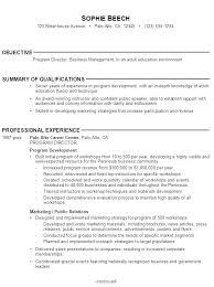 Resume Objectives For Management Sample Fresh Graduate Easy Samples