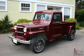 1955 Willys Pickup Truck. 4WD. New Paint, Interior, Some Mechanicals.
