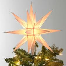 Gallery Of Small White Iridescent Star Tree Topper Trees And Toppers Artistic 3