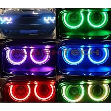 dodge challenger projector v 3 fusion color change led halo