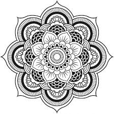A Floral Mandala Coloring Pages