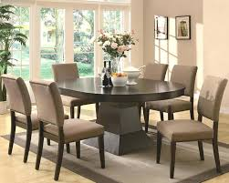Cool Dining Room Table Furniture Photos Contemporary Set With Oval Top And Regarding