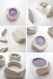 Faceted Clay Tealight Holders