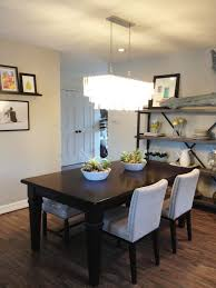 Rustic DIY Dining Room Storage Ideas In Simple Sapce With Grey Chairs And Wooden Table
