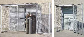 rangement bouteille de gaz armoire grillagée pour bouteilles de gaz box de stockage
