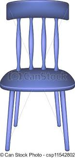 Blue Chair In Retro Design On White Background Vector Clipart