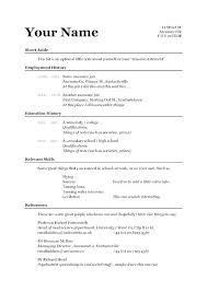 Simple Resume Examples For Jobs A Sample Form