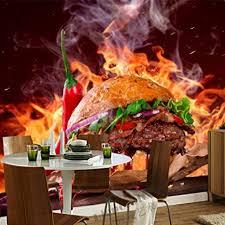 zhcmy hamburger fast food gemüse 3d essen tapete wohnzimmer