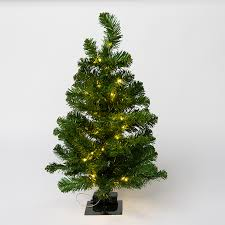 2Ft Pre Lit Mini Classic Tree 50 Warm White LEDs On Copper Wire
