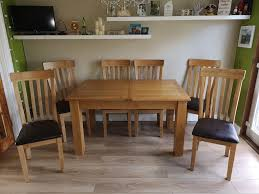 100 6 Oak Dining Table With Chairs OAK DINING TABLE OAK CHAIRS LIKE NEW In Blantyre Glasgow