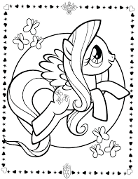 My Little Pony Coloring Page Rarity Pages Free Printable